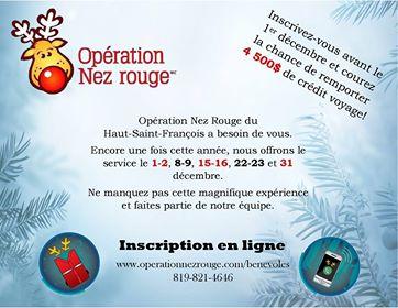 Opération Nez-Rouge du Haut-Saint-François