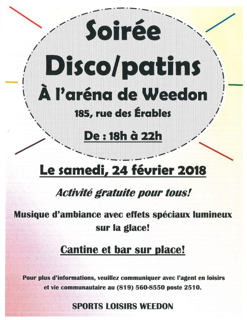 Soirée disco/patins – 24 février 2018