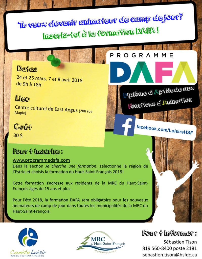 Formation DAFA