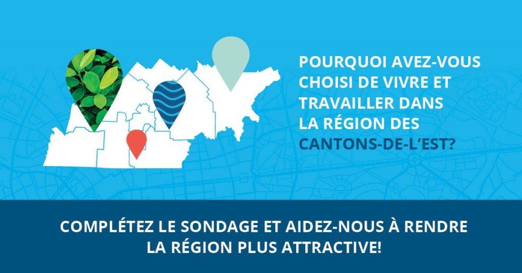 Sondage – Vision attractivité Cantons-de-l'Est/Estrie
