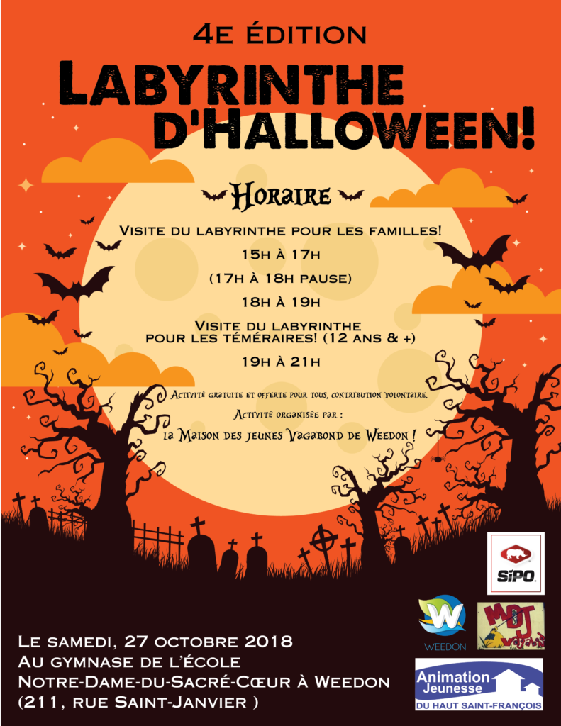 LABYRINTHE D'HALLOWEEN – 27 OCTOBRE 2018