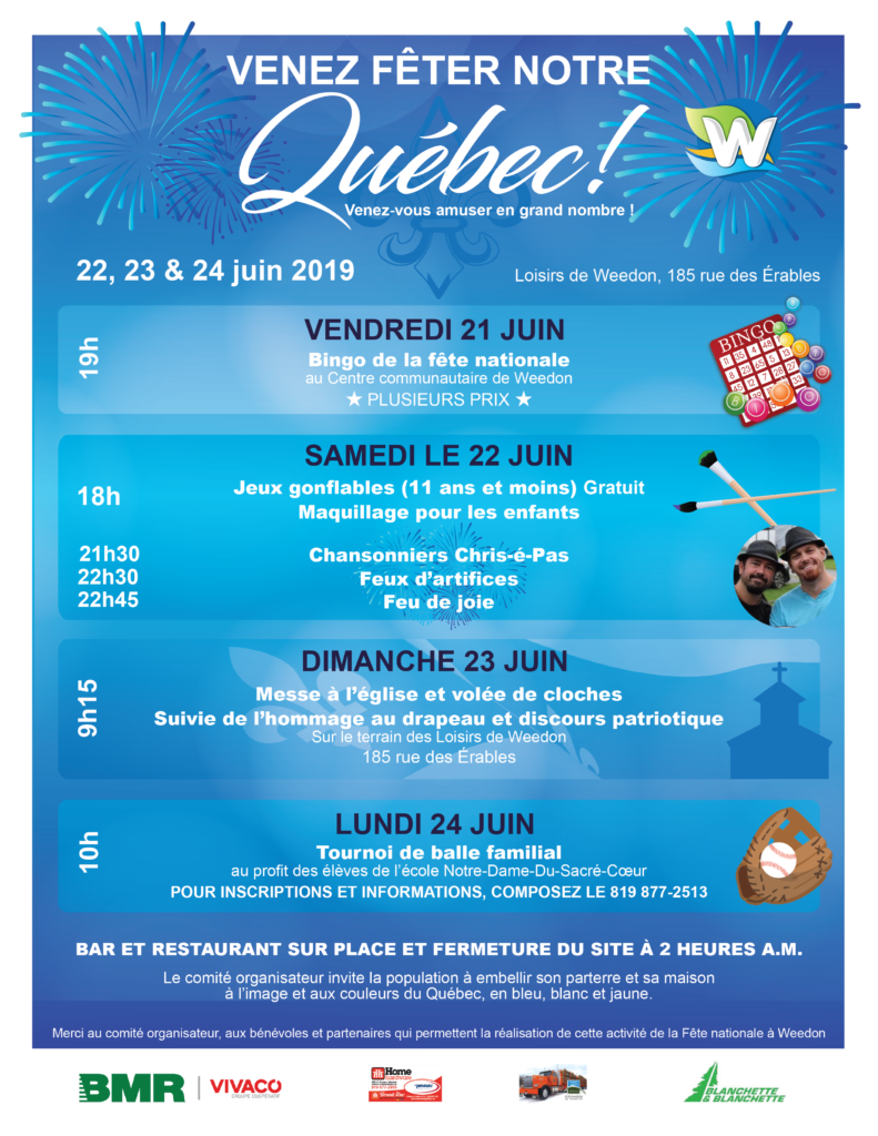FÊTE NATIONALE 2019 À WEEDON