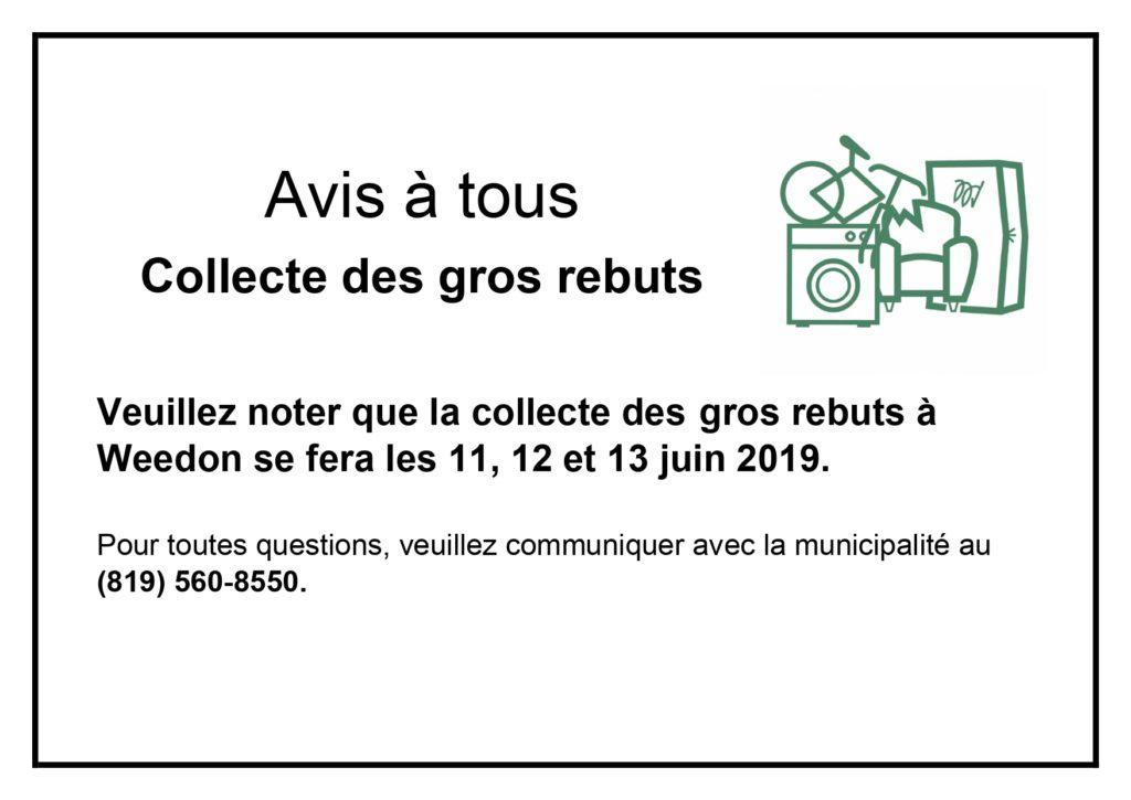 Collecte gros rebuts 2019
