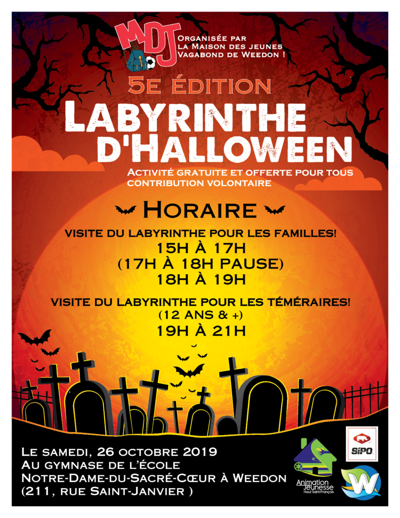 LABYRINTHE D'HALLOWEEN – 26 OCTOBRE 2019