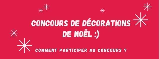LANCEMENT : Concours de décorations de Noël