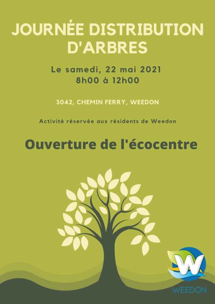 Journée de distribution d'arbres – 22 mai 2021