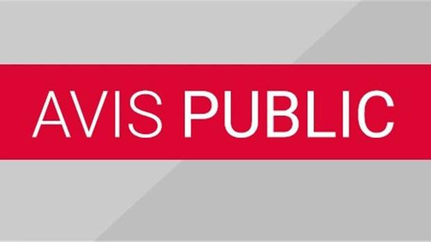 AVIS PUBLIC D'ÉLECTION