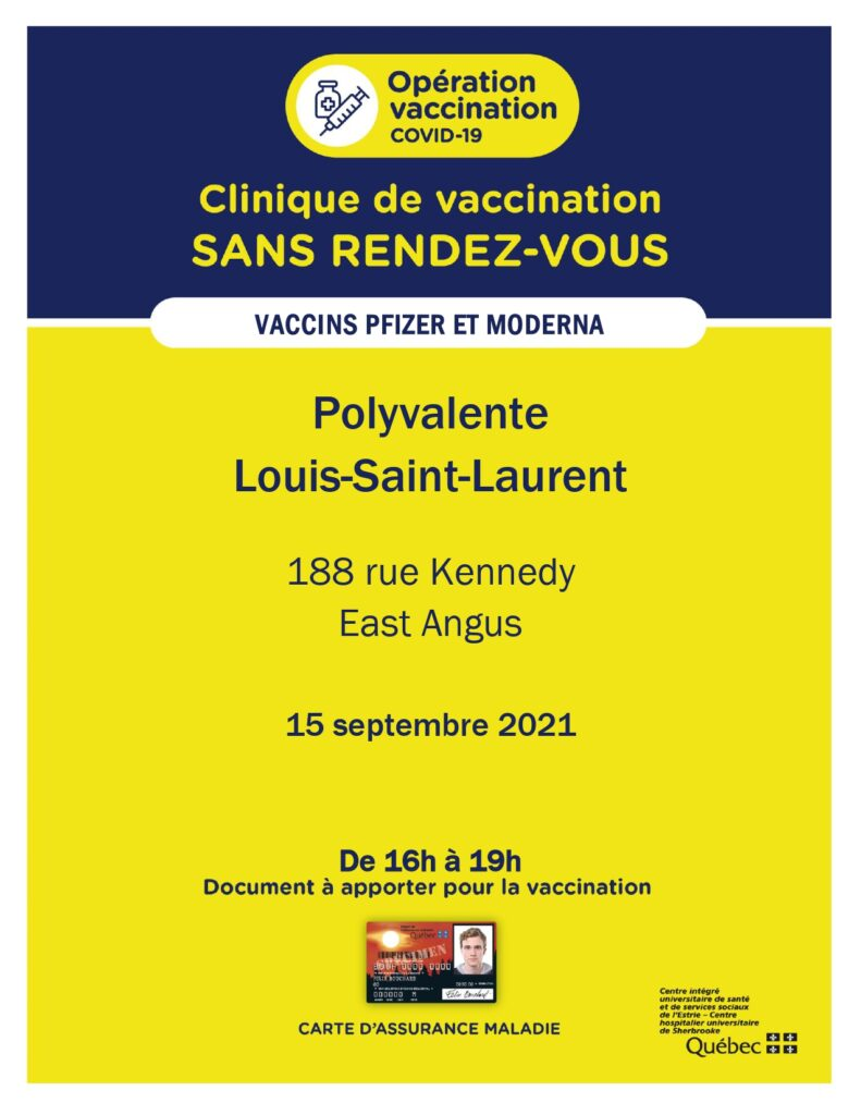 La clinique de vaccination mobile – 15 septembre 2021
